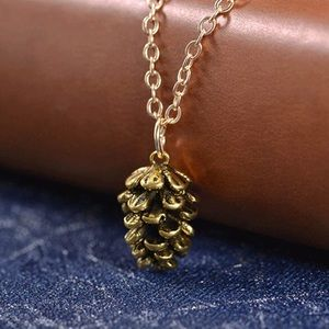 New Gold Pinecone Necklace